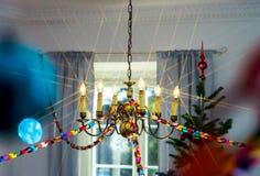 Decoración de la Navidad interior y del Año Nuevo Fotos de archivo