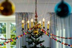 Decoración de la Navidad interior y del Año Nuevo Imágenes de archivo libres de regalías