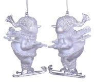Decoración de la Navidad - muñeco de nieve Imagen de archivo libre de regalías