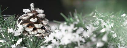 Decoración de la Navidad para la bandera fotos de archivo