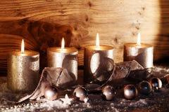 Decoración de la Navidad para la estación del advenimiento Imagenes de archivo