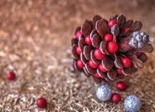 Decoración de la Navidad por el año 2017 Imágenes de archivo libres de regalías