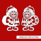 Decoración de la Navidad - Santa Claus ilustración del vector