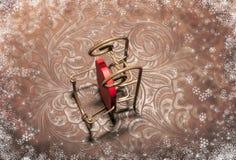 Decoración de la Navidad - trineo Año Nuevo 2015 Imágenes de archivo libres de regalías