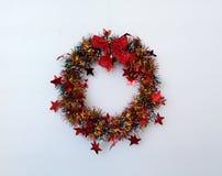 Decoración de la Navidad Un ornamento, circular en forma fotografía de archivo libre de regalías