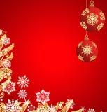 Decoración de la Navidad. Vector Imagenes de archivo