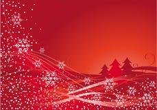 Decoración de la Navidad y árbol rojo Fotos de archivo