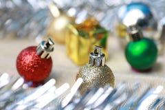 Decoración de la Navidad y de la Feliz Año Nuevo Fotos de archivo libres de regalías