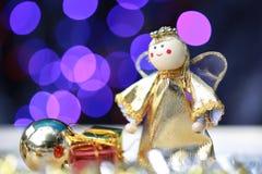Decoración de la Navidad y de la Feliz Año Nuevo Foto de archivo libre de regalías