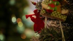 Decoración de la Navidad y del Año Nuevo almacen de metraje de vídeo