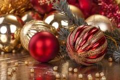 Decoración de la Navidad y del Año Nuevo Fotografía de archivo libre de regalías