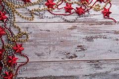 Decoración de la Navidad y del Año Nuevo Imágenes de archivo libres de regalías