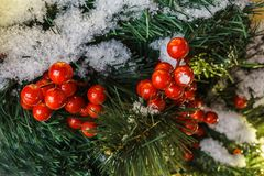 Decoración de la Navidad y del Año Nuevo en la ciudad de Moscú; viaje a Chr Fotografía de archivo