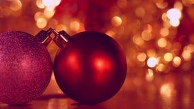 Decoración de la Navidad y del Año Nuevo Fondo borroso extracto del día de fiesta de Bokeh El árbol de navidad enciende el centel almacen de metraje de vídeo