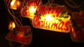 Decoración de la Navidad y del Año Nuevo Guirnalda del centelleo almacen de video
