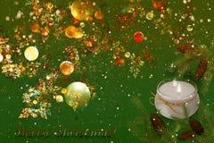 Decoración de la Navidad y del Año Nuevo para el día de fiesta Imagen de archivo libre de regalías