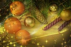 Decoración de la Navidad y del Año Nuevo para el día de fiesta Fotos de archivo libres de regalías