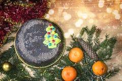 Decoración de la Navidad y del Año Nuevo para el día de fiesta Imágenes de archivo libres de regalías