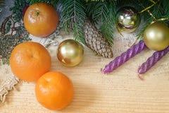 Decoración de la Navidad y del Año Nuevo para el día de fiesta Imagenes de archivo