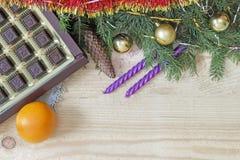 Decoración de la Navidad y del Año Nuevo para el día de fiesta Fotografía de archivo