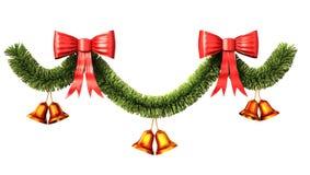 Decoración de la Navidad y del Año Nuevo; trayectoria de recortes incluida. Imagen de archivo