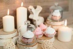 Decoración de la Navidad y foco suave dulce imagen de archivo libre de regalías