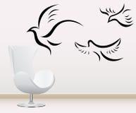 Decoración de la pared stock de ilustración