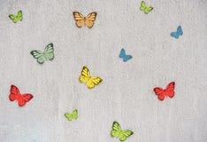 Decoración de la pared con las mariposas de papel Foto de archivo libre de regalías