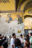 Decoración de la pared de la basílica antigua Hagia Sophia Foto de archivo libre de regalías