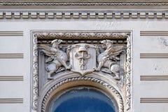 Decoración de la pared del bajorrelieve del estilo del eclecticismo Fotografía de archivo libre de regalías
