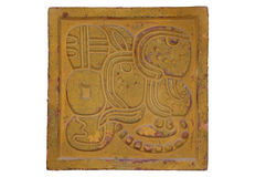 Decoración de la pared del estilo del maya Fotografía de archivo libre de regalías