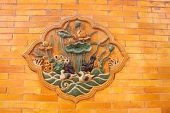 Decoración de la pared en la ciudad Prohibida Fotografía de archivo