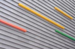 Decoración de la pared externa del edificio moderno Imágenes de archivo libres de regalías
