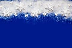 Decoración de la parte superior de los copos de nieve Imagen de archivo libre de regalías