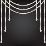 Decoración de la perla Fotos de archivo libres de regalías