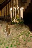 Decoración de la recepción del vector de la boda Imagen de archivo libre de regalías