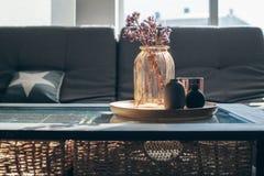 Decoración de la sala de estar foto de archivo libre de regalías