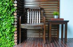 Decoración de la silla y de la tabla Foto de archivo