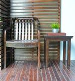 Decoración de la silla y de la tabla Imágenes de archivo libres de regalías