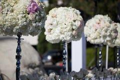 Decoración de la tabla de la boda imagen de archivo libre de regalías