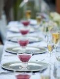 Decoración de la tabla de la boda Fotografía de archivo libre de regalías