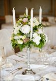 Decoración de la tabla de la boda Imágenes de archivo libres de regalías