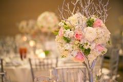 Decoración de la tabla de la boda Imagenes de archivo