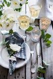Decoración de la tabla de la boda del verano Imagen de archivo libre de regalías