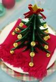 Decoración de la tabla del Año Nuevo de la American National Standard de la Navidad Imagen de archivo