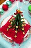 Decoración de la tabla del Año Nuevo de la American National Standard de la Navidad Imagenes de archivo