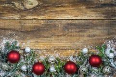 Decoración de la tarjeta de felicitación de la Feliz Navidad Imagen de archivo