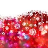 Decoración de la tarjeta de Navidad en luces. EPS 8 Foto de archivo libre de regalías