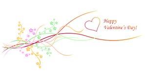 Decoración de la tarjeta del día de San Valentín Foto de archivo libre de regalías