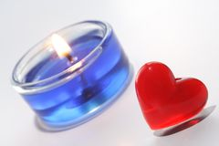 Decoración de la tarjeta del día de San Valentín Fotos de archivo libres de regalías